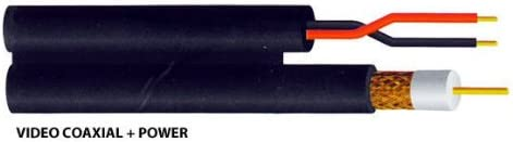 CERTICABLE 500 RG59 Siamese 18//2 Wire Direct Burial CCTV Camera NO CONNECTORS