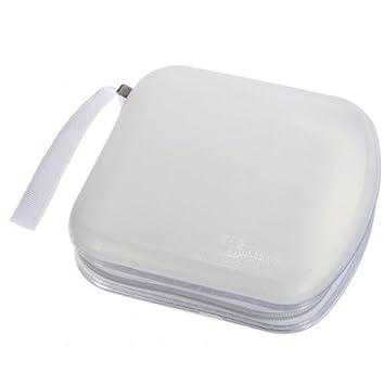 FamilyMall - Estuche archivador para CDs, DVDs y VCDs (para 40 unidades) blanco blanco