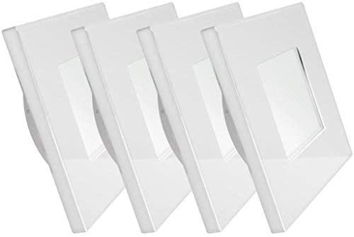 Dream Lighting LED Square Recessed Down 3.5W Silver Shell Pack of 4