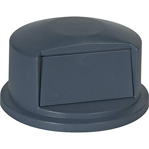 Rubbermaid Commercial Heavy-Duty BRUTE Dome Swing Top Door Lid for 32 Gallon Waste/Utility Containers, Plastic, Gray (FG263788GRAY)