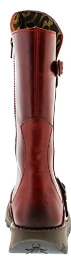 Fly London Mes 2 Rosso Pelle Donna Mid CalfStivali