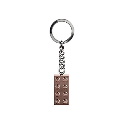 LEGO 2x4 Rose Gold Brick Key Chain (853793): Office Products