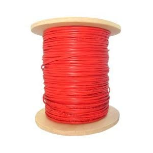 Dealsjungle 14/4 (14AWG 4C) Plenum Solid FPLP Fire Alarm / Security Cable, Red, 1000 ft