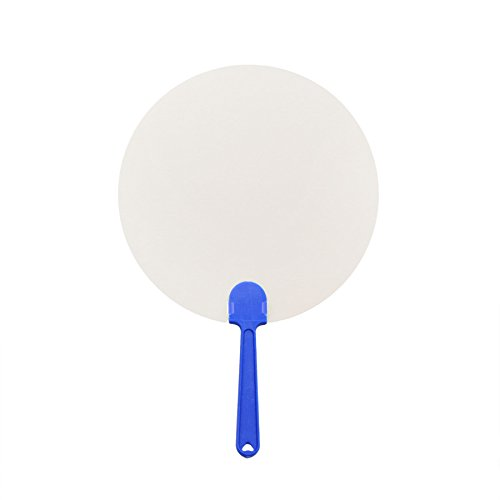 Aspire 30PCS Round Paper Paddle Fans for Craft Project 8 1/4