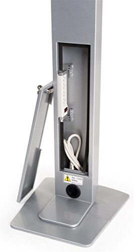 Displays2go Floor Standing iPad Pro 10.5'' Kiosk with Locking Enclosure – Silver (IPRO105STBK) by Displays2go (Image #4)