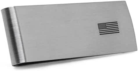 American Flag Money Clip | Stainless Steel Money Clip Laser Engraved In The USA.