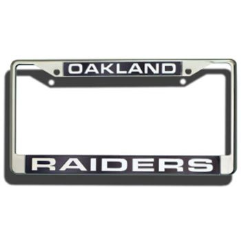 Oakland Raiders Laser Cut Chrome License Plate ()