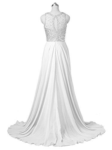 Callmelady® Vestidos de Fiesta Largos de Noche de Niña Cóctel por la Noche 2016 Blanco