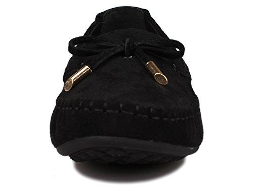 Black Suede Flat Slip Womens Kunsto Loafer Womens Kunsto On qtS8qw1Tx