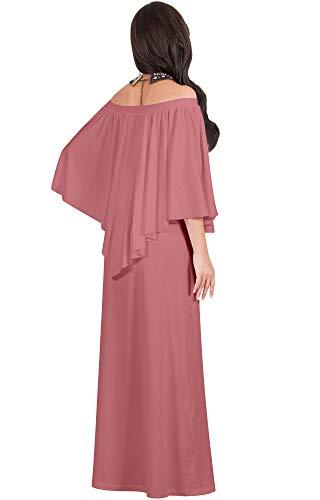 KOH Dress Maxi Cocktail Strapless Flattering Shoulderless Rose Pink KOH Gown Cinnamon RScOrq0RwU