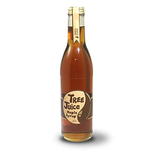 - Tree Juice Pure Maple Syrup, Local Farm Made, 12 oz, Grade A Dark -