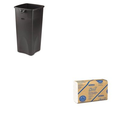 KITKIM01960RCP356988BK - Value Kit - Kimberly Clark 01960 SCOTTScottfold Multi-Fold Paper Towels (KIM01960) and Rubbermaid Untouchable Waste Container (RCP356988BK)