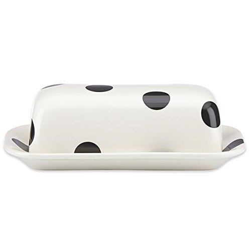 kate spade new york kitchen Deco Dot Stoneware Covered Butter Dish