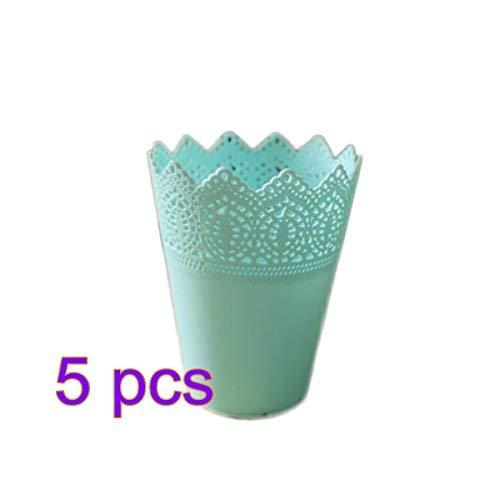 Demana Floreros decorativos vaso de plástico simple y puro flor exquisita flor falso arreglos florales debe ser más ollas...