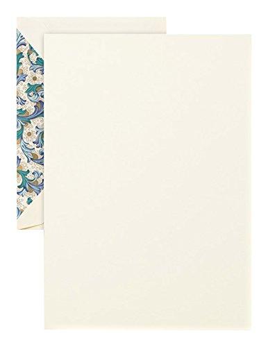 Crane Blue Florentine Half Sheet, Ecru (CH3768) ()