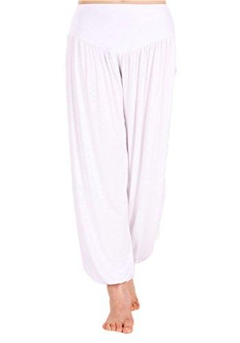 Femme Blanc Sport Pantalon De Andyshi nZO7vq