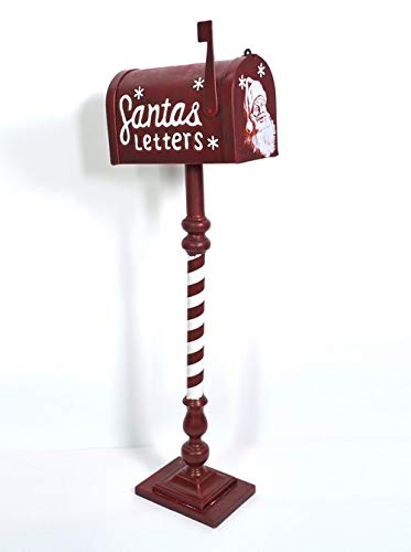 Cassetta Postale Babbo Natale in Metallo 100cm