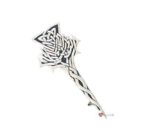 Highland Thistle Kilt Pin Chrome I Luv LTD iluvltd 18868