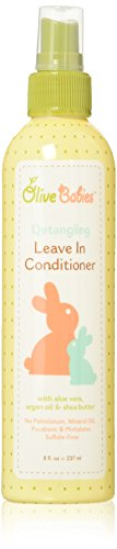 Olive Babies Hair Detangling Leave-in Conditioner Spray, 8 Ounce