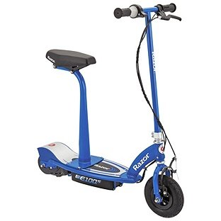 Electric Scooter With Seat >> Razor E100s Electric Scooter With Seat Blue Amazon Co Uk Sports
