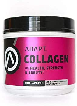 Adapt Collagen Protein Powder | for Skin, Hair, Bone Density, Joint Health | Grass-fed Organic Collagen Peptides | Keto and Paleo Approved | 30 Servings, 11 Grams Protein per Serving, Unflavored