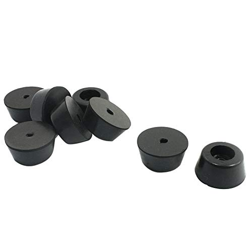 Furniture Legs - 8x Universal Black Rubber Feet Washer 26 21 12mm - Pads Tapered Century Feet Rubber Angled Dresser Nickle Wood Metal Adjustable Nickel Plastic Caps Round Duty Vintage Caste