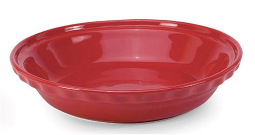 Red Pie Dish - Chantal Ceramic Deep Dish Pie 9-1/2 Inch, Glossy Red