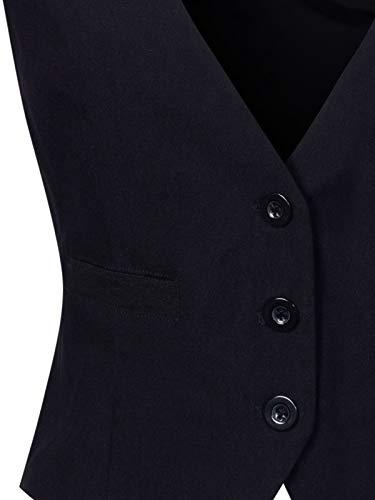 Design by Olivia Womens Casual Versatile Three Button Racerback Tuxedo Suit Waistcoat Vest
