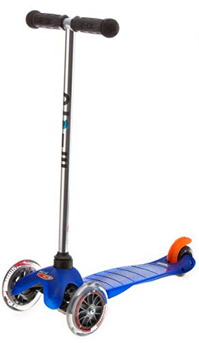Micro Kickboard - Mini Original 3-Wheeled, Lean-to-Steer, Swiss-Designed Micro Scooter for Preschool Kids, Ages 2-5, Blue