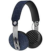 House of Marley EM-JH111-DN Rise On-Ear Headphones, Denim