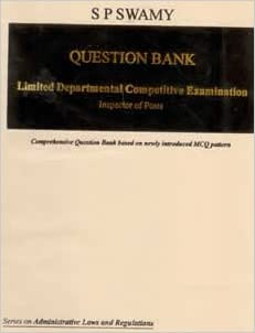 Buy Question Bank for Limited Departmental Competitive