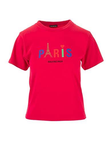 Balenciaga Luxury Fashion Boy 556155TGV535640 Red Cotton T-Shirt | Spring Summer 20