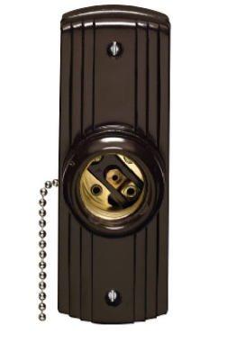 Leviton Mfg L10-05235-000 Pull-Chain Lampholder, Brown, 660-Watt - Quantity 5
