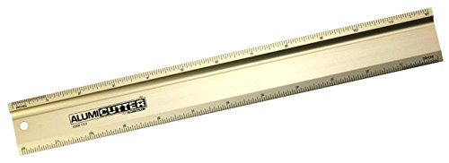 Safety Ruler Cutting Straight Edge - Alumicolor Alumicutter, Safety Ruler and Straight Edge, Aluminum, 12 inches, Gold (1312-2)