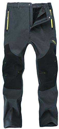 Mens Outdoor Outerwear - Singbring Men's Outdoor Windproof Hiking Pants Waterproof Ski Pants Small Gray(606)