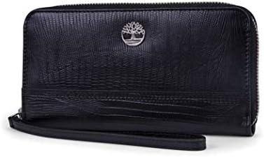 Timberland Leather RFID Zip womens Around Wallet Clutch Wristlet Strap Handbag