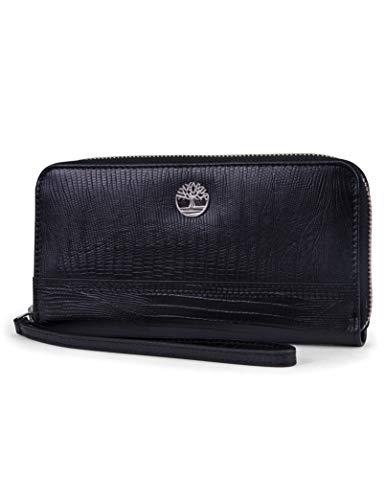 Timberland Women's Leather RFID Zip Around Wallet Clutch with Wristlet Strap