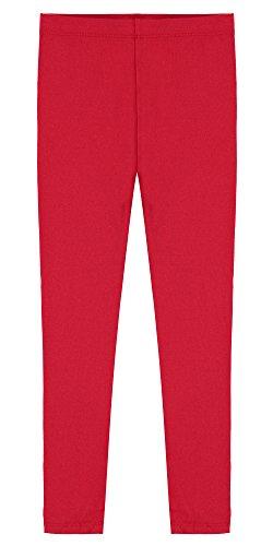 Popular Big Girl's Cotton Ankle Length Leggings - Red - 10