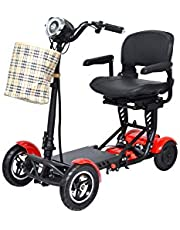 Dragon Mobile EX Foldable Mobility Scooter for Adults and Seniors, Lightweight and Long Range Four Wheel Mobility Scooter with Wider Seat
