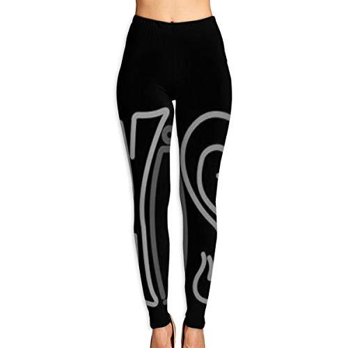 - Annieee Women's Yoga Pants Custom Phish Logo Neon Sign Gray White Elastic Workout Running Leggings Pants M