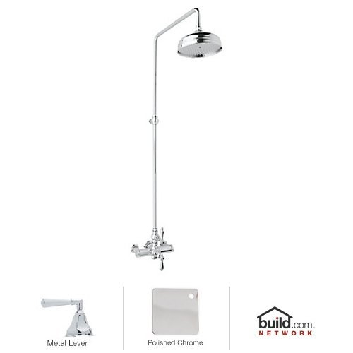 Rohl AKIT49172LHAPC Country Bath Shower System with Exposed Thermostatic Valve, Polished Chrome