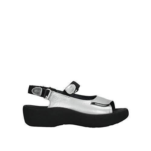 Wolky Comfort Jewel - 61130 Silver Metallic Leather - 39