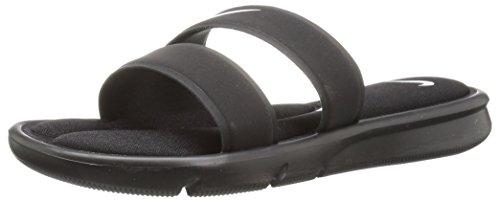 NIKE Women's Ultra Comfort Slide Sandal, Black/White/Black, 8 B(M) US