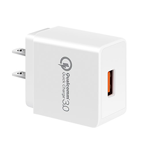 Quick Charge 3.0, GOOD-SHE GS-551 18W USB Wall Charger (Quick Charge 2.0 Compatible) Smart Charging Adapter for Galaxy S7/S6/Edge/Plus, Note 5/4, LG G4, HTC One A9/M9, Nexus 6, iPhone, iPad and More