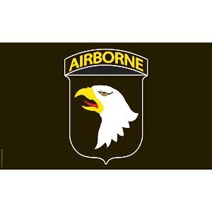 Flag Army 101st AirBorne Black Poly 3ft X 5ft