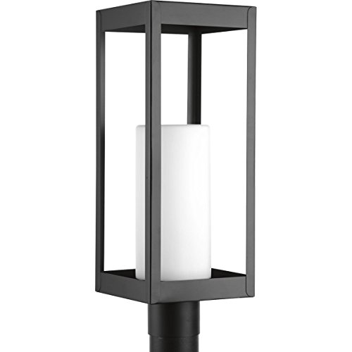 (Progress Lighting P540013-031 Patewood Black One-Light Post Lantern,)