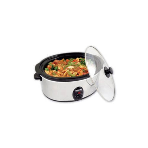 Better Chef 3-3/4-Quart Slow Cooker Stainless-Steel 91580179M