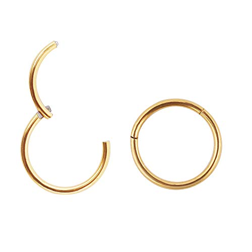 2pcs G23 Titanium 7mm Nose Hoop 20g Cartilage Earring Hoop 14k Gold Nose Ring Nose Rings 20 Gauge Helix Hoop Earring Forward Helix Earring Daith Earrings Tragus Earrings Hoop Earrings Piercing Jewelry (Best Jewelry For Tragus Piercing)
