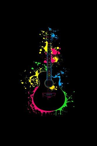 (Splash Guitar: Guitar Tab Tablature Notebook (6