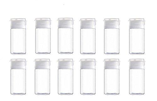 906f57556c3f 15ml/0.5oz Clear Plastic Empty Flip Lid Sample Bottle Reusable Container  Jar Pot Vial Apply to travel (12 PCS)